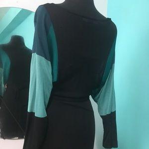 French Connection Dresses - 100% Viscose black Mesh dress